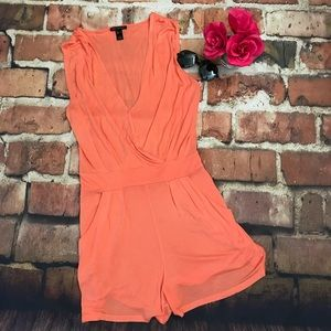 Peach Colored MNG Romper With Pockets